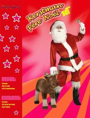 KER 055  Kerstman kostuum + pruik + baard