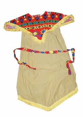"Indiaanse jurk  "" Beige / oranje """