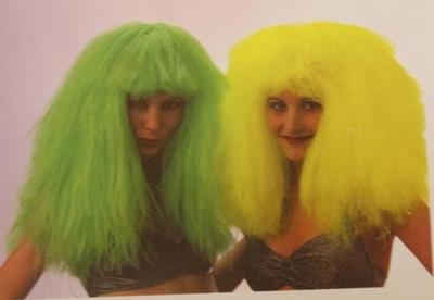"""Pruik lange haar  """"  Volume """"  groen"""