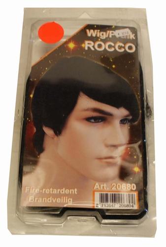 """Pruik  Rocco   """" Zwart """""""