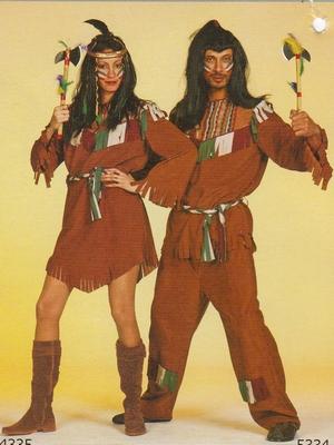 """Indiaan  """" Bruin / groen """""""