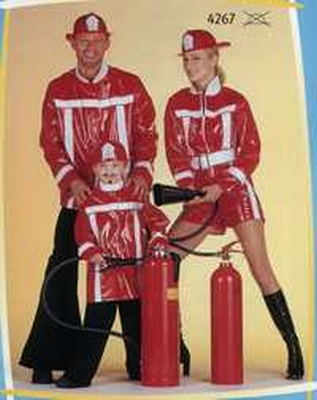 "Brandweer vrouw  "" Lak ""  rood"