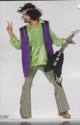 """Hippie  """" Groen / paars """""""