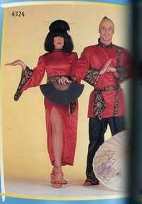 """Japanse jurk  """" Rood """""""