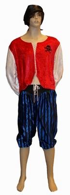 """Piraat  """" Rood / blauw"""