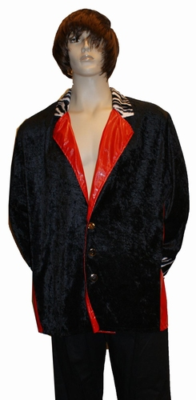 "Pooier jas  "" Zwart / rood """