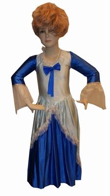 """Prinsessenjurk  """" Licht blauw / donker blauw """""""