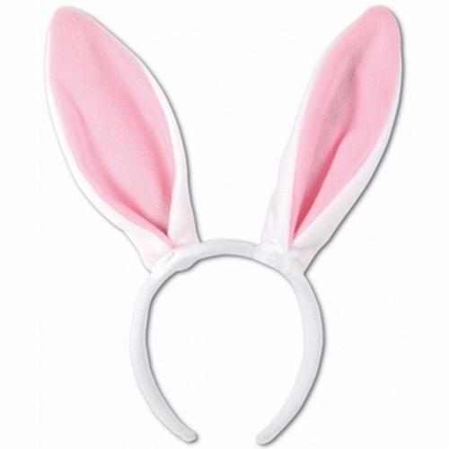 "Bunny oren diadeem  "" Wit / rose """