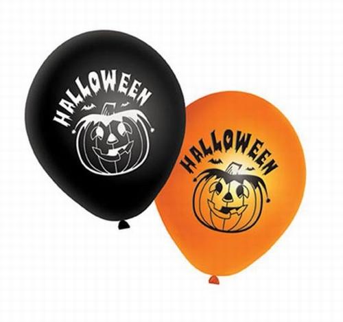 """Ballonnen   """" Halloween """"  set van 8 stuks"""