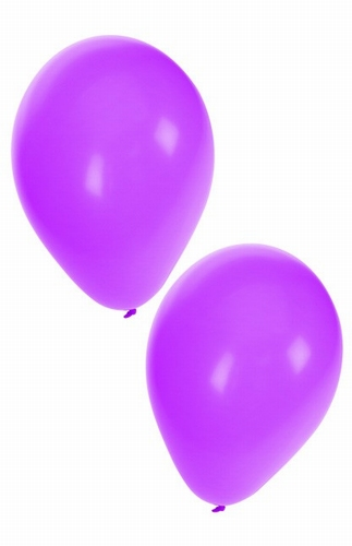 "Ballon  "" Paars ""  per stuk"
