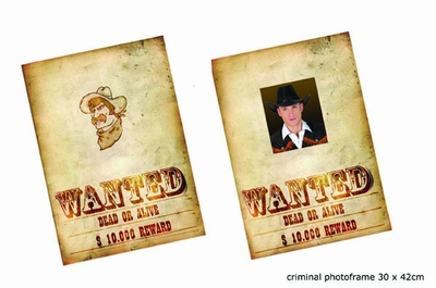 """Poster """" Wanted dead or alive """""""