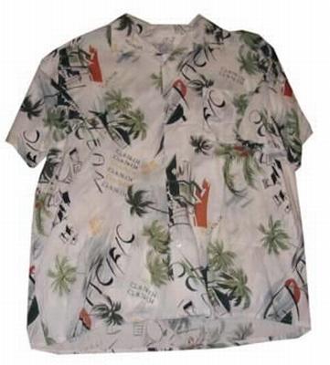 """Hawaii blouse  """" Wit / groen """""""
