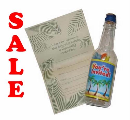 Flessenpost met briefpapier