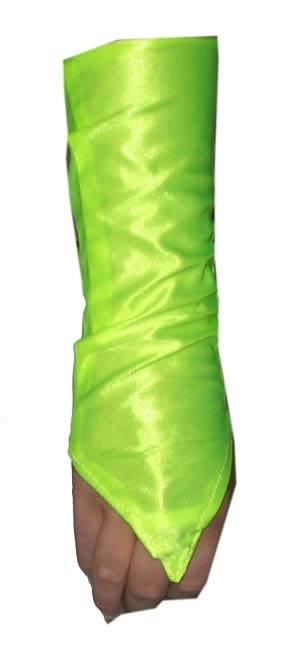 """Armkappen  """" Neon geel """"  40 cm lang"""