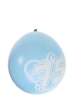 """Ballonnen  """" 75 jaar """" set van 8 stuks"""