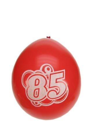 """Ballonnen  """" 85 jaar """" set van 8 stuks"""