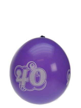 "Ballonnen  "" Hoera 40 jaar "" set van 8 stuks"