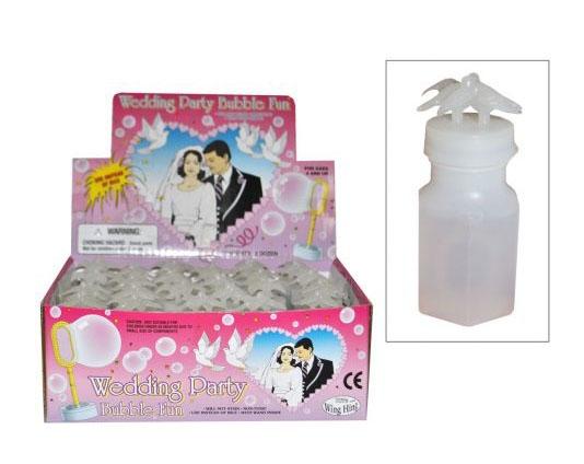 Bellenblaas vloeistof in flessen voor huwelijk