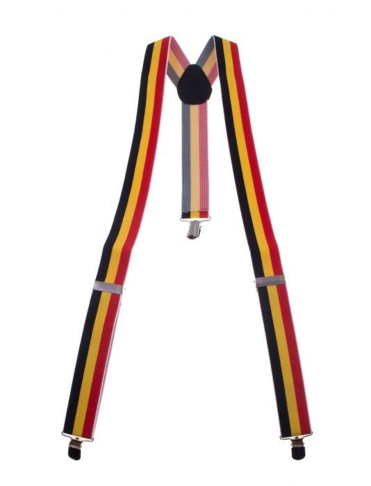 """Bretels  """" België """" Rood / geel zwart"""