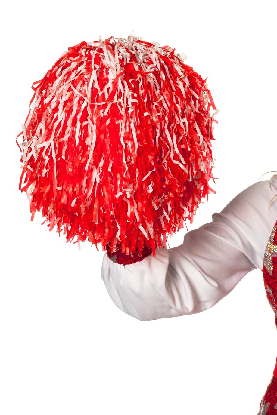 "Cheerleader pompon "" Rood/wit """