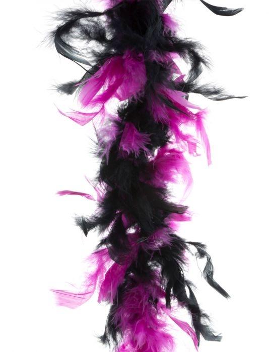 """Dubbele kleuren boa  """"  Zwart /paars """""""