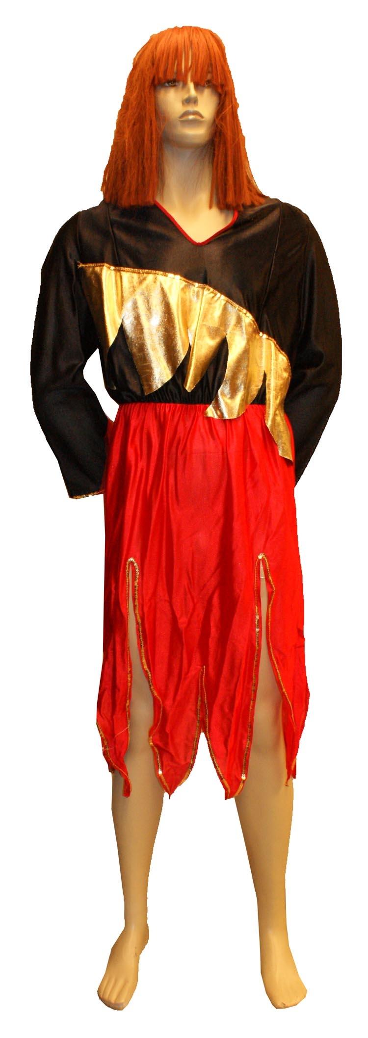 """Duivelinnen jurk  """" Zwart / rood / goud """""""