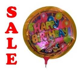 "Folie ballon  "" Happy Brithday  Clown """