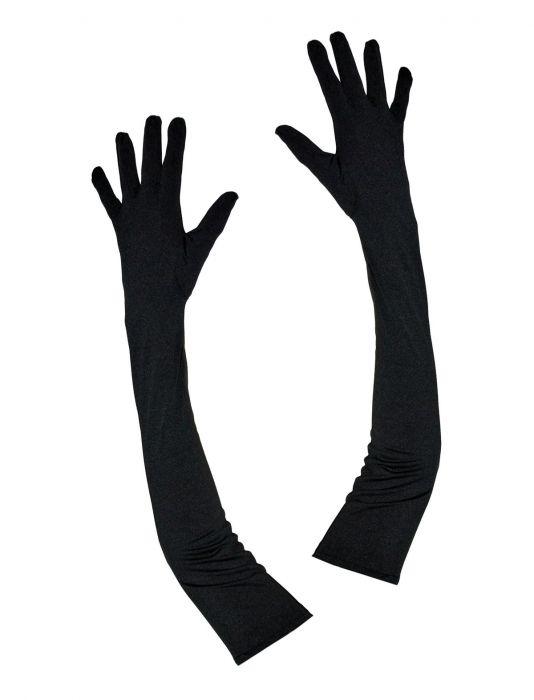 """Handschoenen """" 33 cm  """"   Zwart"""