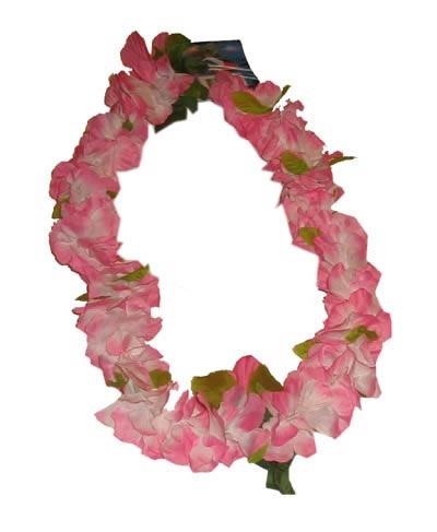 "Hawaii krans  "" Rose / wit  / groen """