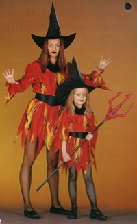 Heksenjurk met vlammen