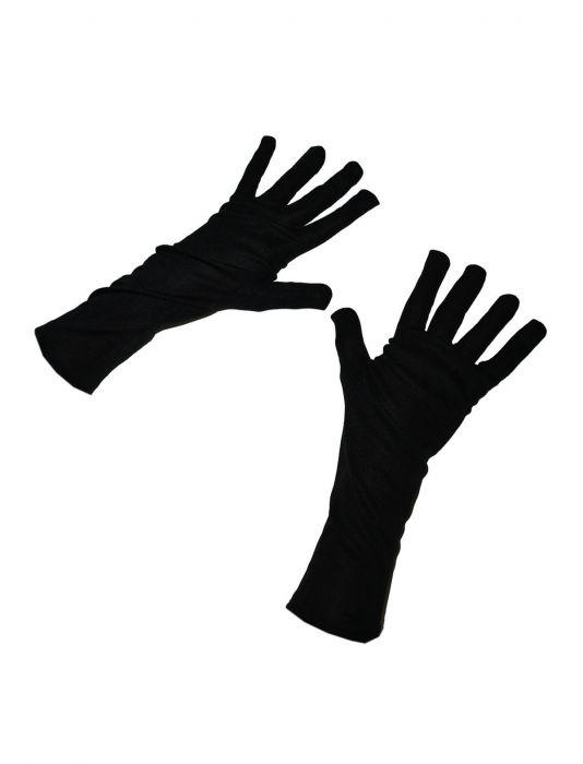 """Korte handschoenen """" 24 cm """"  Zwart"""
