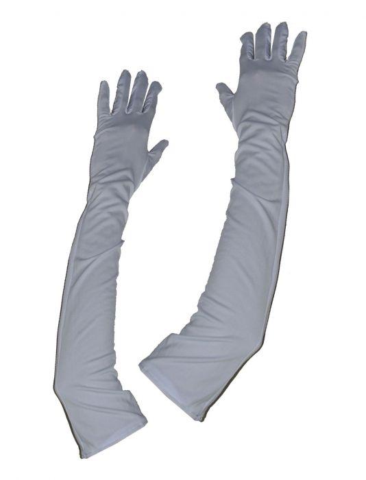 """Lange handschoenen """" 45 cm """"  Wit"""