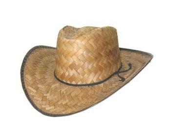 Rieten cowboyhoed