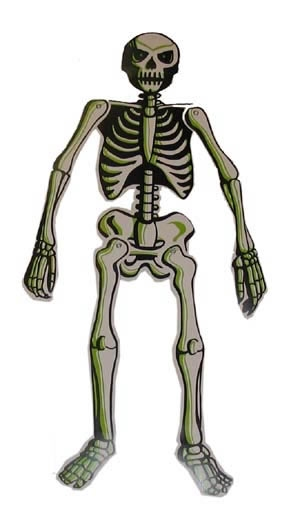 "Skelet glow in the dark  "" Middel """