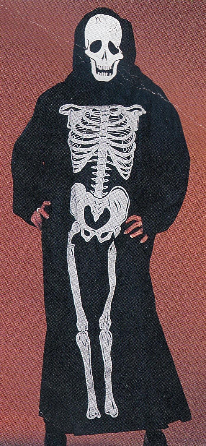 Skelet met masker