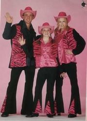 Disco kostuum rose