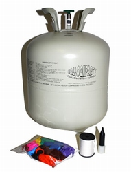 """Helium fles voor 30 ballonnen  """" Gekleurde """""""