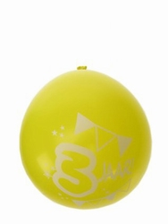 "Ballonnen  "" Hoera 3 jaar "" set van 8 stuks"