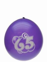 "Ballonnen  "" Hoera 65 jaar "" set van 8 stuks"