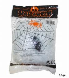 """Spinnenweb met 4 spinnen  """" 56 gram """"  Wit"""