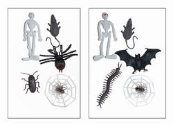 Halloween insekten + skellet