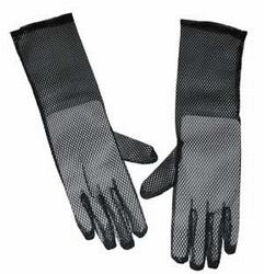 """Net handschoenen """" Zwart  """"  40 cm  lang"""