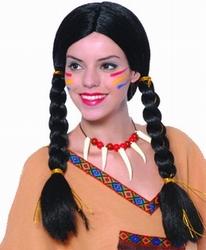 """Indiaanse pruik  """" Vlechten """""""