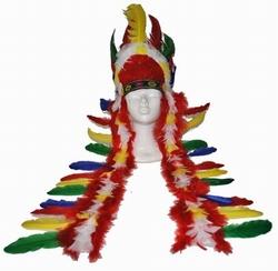 "Indianen tooi  "" Extra groot ""  Gekleurd"