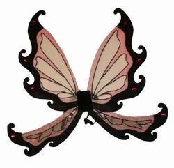 """Vlinder vleugels  """" Zwart / rose """""""
