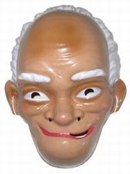 """Masker  """" Abraham met wit haar """""""