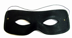 """Zorro oogmasker """" Zwart  + opdruk zilver kleurig  Z """""""