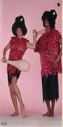 "Holbewoners kostuum  "" Roze / zwart """