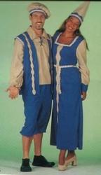 """Kasteel heren kostuum   """" Blauw / beige  """""""