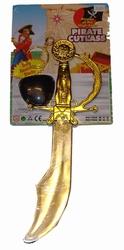 Piraten zwaard + ooglapje + oorbel